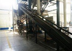 碳酸钙自动拆包机使用现场