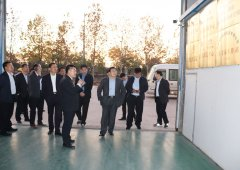 热烈欢迎安丘市代市长贾勤清到博阳机械调研考察