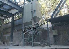 石灰粉吨袋拆袋机使用现场