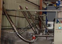 化工原料管链式输送设备现场