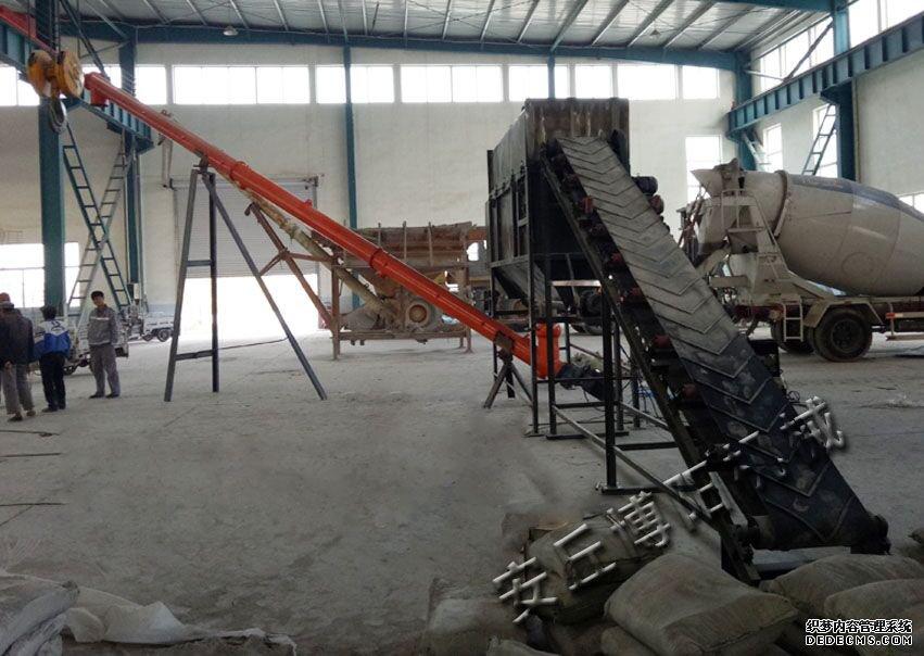 水泥自动拆包机使用现场